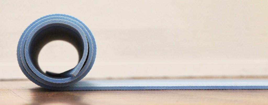 Blue mat circle